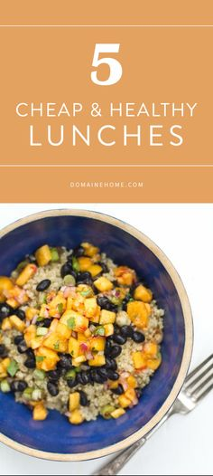 5 quick and calorie-conscious recipes for work-friendly lunches #clean #eatclean #recipe #fresh #recipes