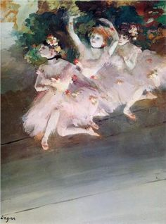 Three Ballet Dancers - Edgar Degas