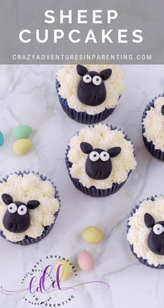 If you're looking for an adorable Easter dessert recipe, check out these Sheep Cupcakes! Everyone will love these charming Easter cupcakes! Sheep Cupcakes, Easter Cupcakes, Fun Cupcakes, Birthday Cupcakes, Cupcake Recipes, Cookie Recipes, Dessert Recipes, Desserts, Holiday Cupcakes