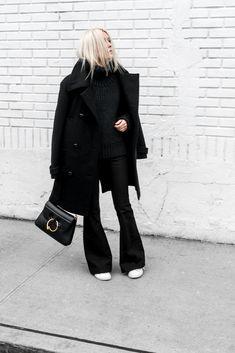 French Flair... #isabelmarant #jwanderson #FlarePant #knitwear #ootd #woolcoat #figtny