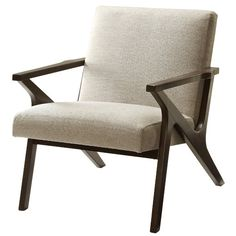 Good price and great reviews - comes in beige and gray - AllModern - Upholstered Accent Arm Chair