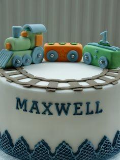Boys 1st Birthday Cake, Birthday Cake With Photo, Trains Birthday Party, Train Party, Birthday Photos, Healthy Birthday, Cakes For Boys, Cake Creations, Celebration Cakes