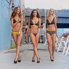 Andreea, Julia, Paige. Three beautiful models, three new colors for Hipstripes in 2014.