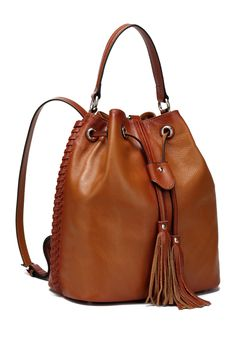 Chantel Leather Bucket Bag Backpack by Vicenzo Leather on @HauteLook