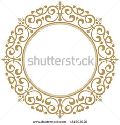 Decorative line art frames for design template. Elegant vector element for design in Eastern style, place for text. Lace illustration for invitations and greeting cards Floral Border, Floral Motif, Floral Design, Graffiti Lettering, Hand Lettering, Line Art, Clock Craft, Decorative Lines, Painted Ornaments
