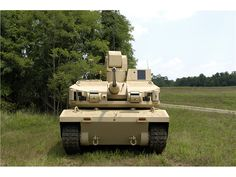 Black Knight unmanned ground combat vehicle (UGCV.)  A prototype built by BAE systems, the Black Knight is a 12 ton AFV mounting a 30mm cannon.  A proof-of-concept vehicle, it is being evaluated by the US Army to help determine capabilities and tactics.  As promising as an unmanned armored vehicle may be as a combat asset, there are still many technological challenges to over come.