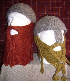 Dwarven Battle-Bonnets. If you think I won't be sporting one of these babies walking across the bridge on campus this winter, you'd better think again, friend.   @Sasha Mlejnek Nygaard  (Sash, this one is for grown up people. I'm thinking Jason would look smashing in one!)