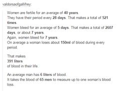 the more you know... #menstruation #periodssuck