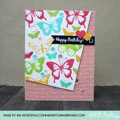 butterflies angle card