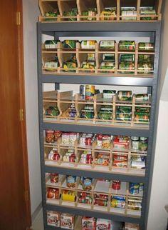 Trendy food storage room stockpile awesome Ideas (With images) Food Storage Rooms, Food Storage Shelves, Food Storage Organization, Can Storage, Pantry Storage, Kitchen Storage, Storage Racks, Storage Ideas, Furniture Storage
