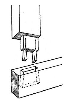Blind pegged mortise and tenon joint
