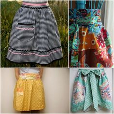 cute aprons to sew! I need to learn how to sew!