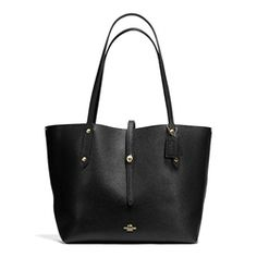 Coach Market In Pebble Leather Large Black Tote FFW