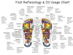 Foot reflexology and essential oils chart!