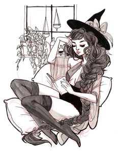 Oh to be a witch. Art And Illustration, Arte Inspo, Kunst Inspo, Fantasy Kunst, Fantasy Art, Pretty Art, Cute Art, Anime Kunst, Anime Art