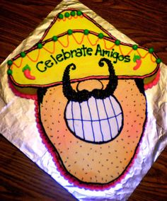 Fiesta Birthday Cake  - Muchacho Mustache