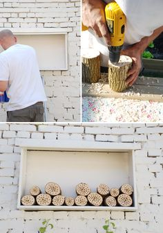 I long to be a bee keeper...this is an awesome way to encourage bees to stay in your yard