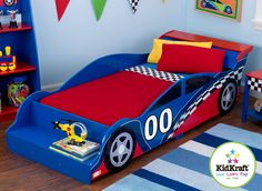 KidKraft Racecar Toddler Bed - 76040 - Kids Beds - Bedroom - Furniture