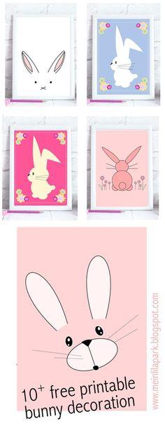 10+ FREE printable Easter bunny wall art   nursery wall art