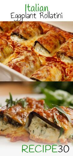 EGGPLANT ROLLATINI Gluten free cannelloni made with eggplant