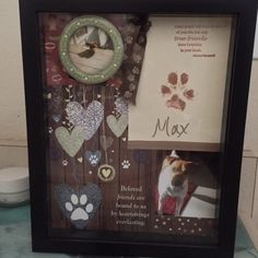 Pet Memory Shadow Box - Great way to remember our sweet pets that were so dear to us.