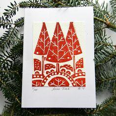 cait s lino print christmas cards holiday pinterest christmas