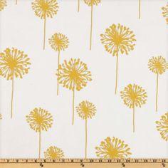 Premier Prints Dandelion Slub White/Yellow