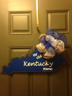 My Old Kentucky Home Door Hanger by aDooRabellas on Etsy