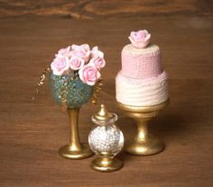 Romantic Miniature Tart for your Dollhouse by DinkyWorld on Etsy