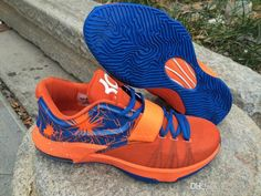 a17d74bdf678 Authentic Nike KD 6 Blue White Orange Red Maroon 599424 001 ...
