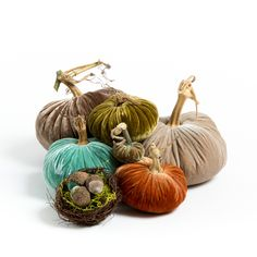 Velvet pumpkin trio with acorn best from LoveFeast Shop