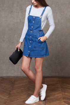 Jeans dress - Teenager Outfits That Will Make You Look Great Beauty Tips outfits outfitideas fashion fashionoutfits Jeans Dress, Outfit Jeans, Dress Outfits, Girl Outfits, Casual Outfits, Fashion Outfits, Top Jeans, Jacket Jeans, Romper Outfit