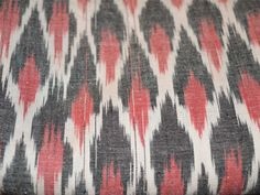 Ikat Weaving Cotton Fabric in Red, Black and White Color. You can use this fabric to make dresses, tops, Crafting, Drapery, Home Décor, Outdoor, Quilting, Sewing, General, Upholstery etc.  Ikat...