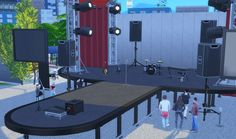San Myshuno, Sims 4, Park, Decor, Decoration, Parks, Decorating, Deco