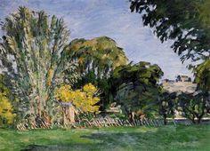 """wonderingaboutitall: """"The Trees Of Jas de Bouffan - Paul Cezanne """""""