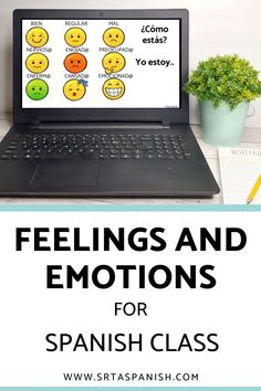 Are you looking for feelings activities for your Spanish classes? Practice activities for practicing emotions in Spanish class! Check out these resources for your novice middle school or high school Spanish classes. Reading, writing, listening & speaking activities are all included in this blog post to help you teach los sentimientos or feelings in Spanish! Great ideas for lesson plans as you teach feelings in Spanish to your secondary students! #spanishclass #secondaryspanish Feelings Activities, Class Activities, Spanish Classroom, Teaching Spanish, Forms Of Estar, Grid Puzzles, Class Routine, Middle School Spanish, Spanish Lesson Plans