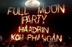 Full Moon Party on Haad Rin Beach, Ko Pha Ngan Island, Thailand Full Moon Party, Big Party, Koh Phangan, Beach Adventure, Festivals Around The World, Strange Photos, Places Ive Been, Places To Go, Travel Memories