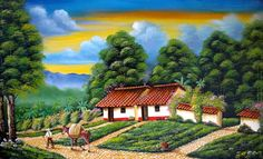 Pintura Colonial, Cottage Homes, Little Houses, Pencil Drawings, Watercolor Art, Landscape, Gabriel, Google, Cottages