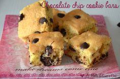 Chocolate chip cookie bars - Barrette con gocce di cioccolato