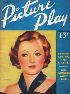 Myrna Loy - Picture Play, Feb, 1938