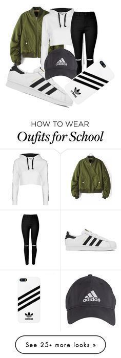 """""""school trip"""" by damarisvasco on Polyvore featuring adidas, Topshop and ADDIDAS"""
