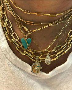 Trendy fashion jewelry 2019 Original jewelry Fashion jewelery t Dainty Jewelry, Cute Jewelry, Gold Jewelry, Jewelry Necklaces, Women Jewelry, Jewellery, Layering Necklaces, Jewelry Art, Diamond Jewelry