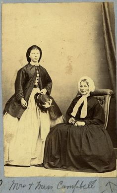 Mrs and Miss Campbell Photographer: Thomas Tuffin, Wanganui Reference No; NZC14.1.15B Wanganui Portrait Collection, Wanganui District Library | Flickr - Photo Sharing!