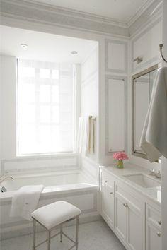 Grey + White Simple Bath .