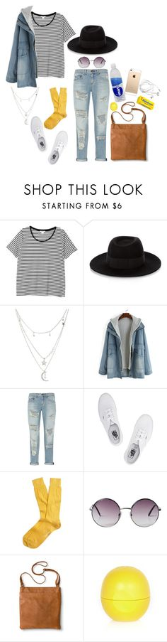 """""""::My Characters    Oliver Quinn::"""" by cottoncandyprince ❤ liked on Polyvore featuring Monki, Maison Michel, Charlotte Russe, rag & bone, Vans, Brooks Brothers, Merona, River Island, denim and vans"""