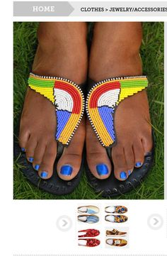 For sale | www.bhfshoppingmall.com: Exotic African beaded Sandals - Description/ sizes/prices in the shopping mall