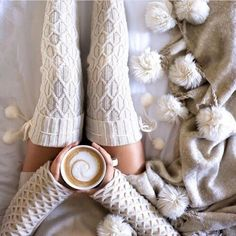 pinterest // roseclairdelune ♡ if anyone could knit these boots for me I'd be a happy camper !