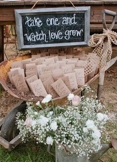 What a cute way of letting your friends and family help your love to grow.
