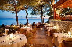Whimsical view at Ithaki Restaurant, Vouliagmeni