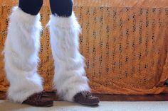 How to make leg warmers. Faux Fur Legwarmers by iriskh, via Flickr